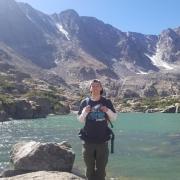 Sean on a hike