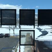 Dynamic tint windows at various stages of tint