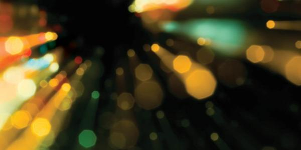 Blurred light particles