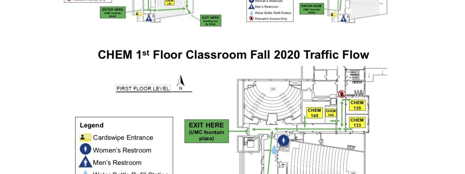 Traffic flow in chemistry building