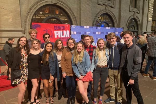 Students attending the Denver Film Festival