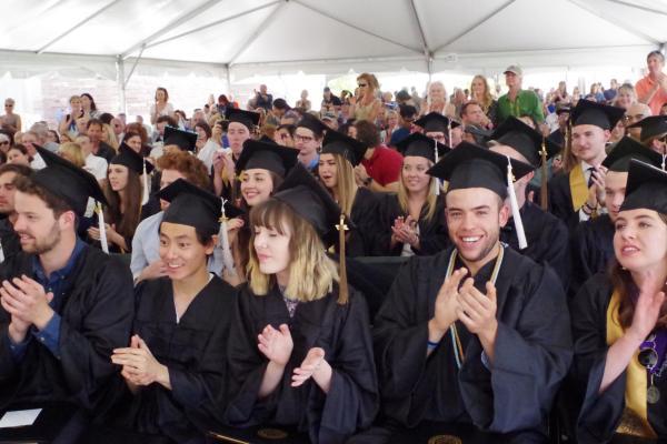 Graduates at CU Cinema Studies Commencement