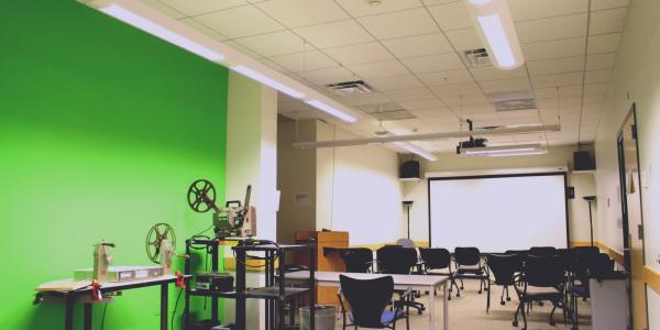 empty production classrooom