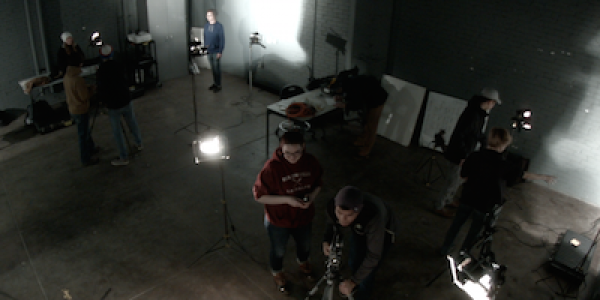 Students in Sound Stage