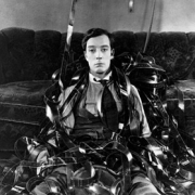 "Still of Buster Keaton in ""Sherlock Jr."" (1924)"