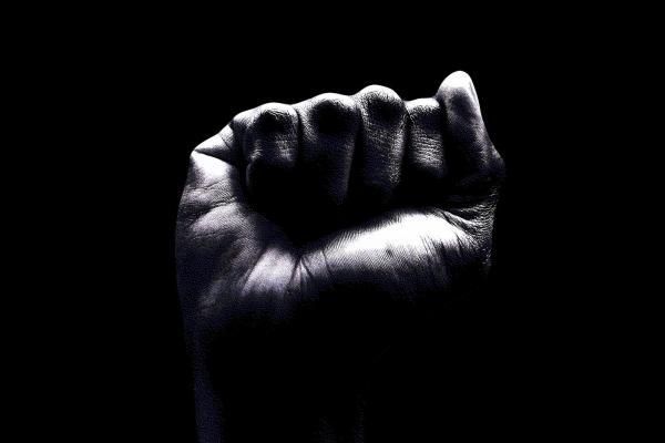 image of a Black fist