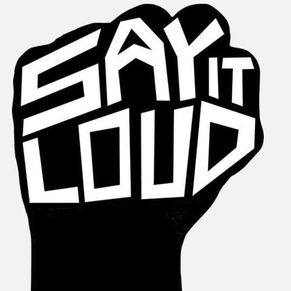 Say it Loud black empowerment clip art