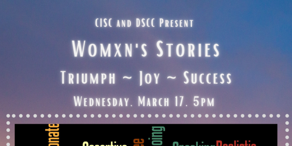 Womxn's stories flyer