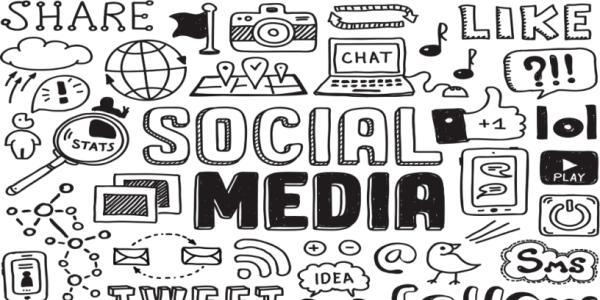 clip art of social media
