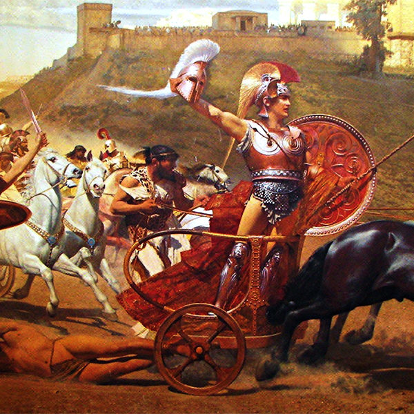 painting of the triumph of achilles