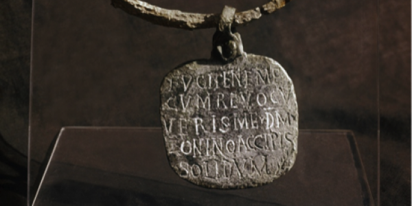 Ancient inscripted necklace