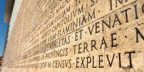 Funerary inscription from Ara Pacis