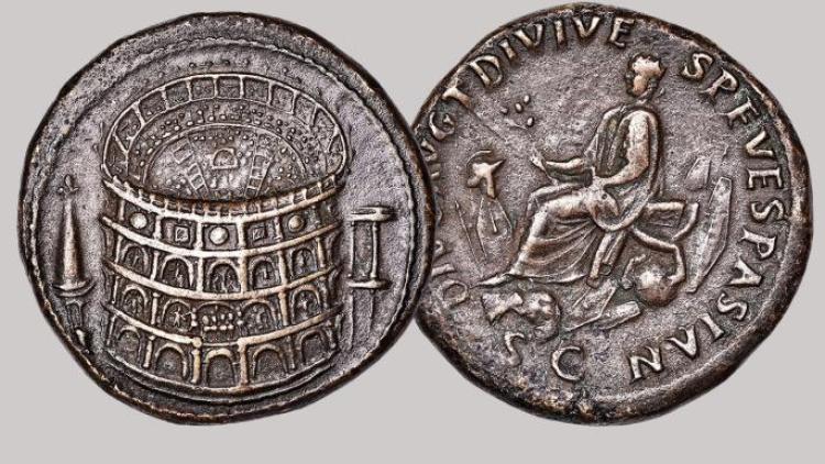 Colosseum coin Titus
