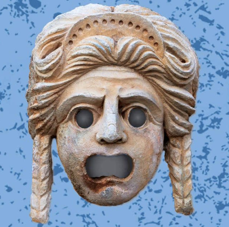 Picture of Greek stone mask
