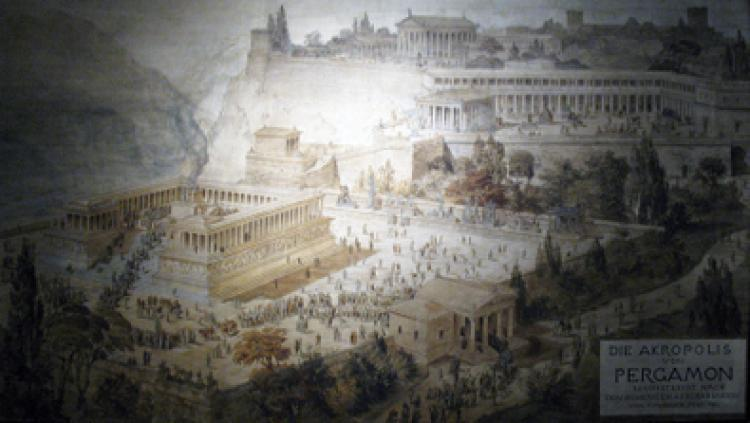 An artist's rendition of the Acropolis