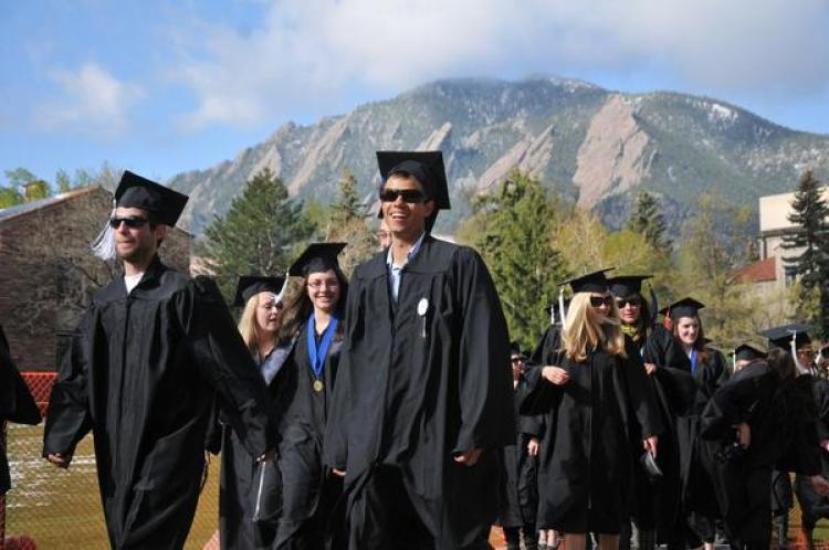Students graduating from CU Boulder with honors