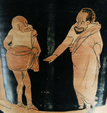 Greek painting on potery