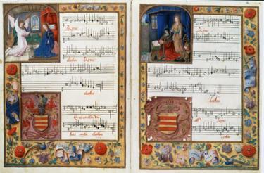 Old Latin musical score called the Chigi codex