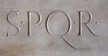 SPQR etched in stone