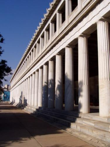 Ancient Agora of Athens columns