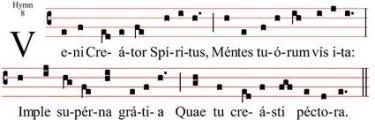 Latin in a musical score