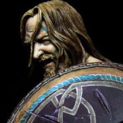 warrior with shield