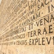 Funerary inscription from Ara Pacis