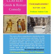 Greek & Roman Comedy Maymester poster
