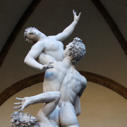 "Statue of ""Rape of the Sabine Women"" by Giambologna, 1583"