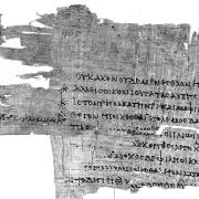 Picture of old text writen on papyrus
