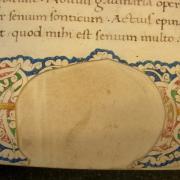 Old Latin writing on papyrus