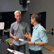 Instructor Lansfor teasching an actor