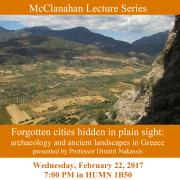poster for mcclanahan lecture by dimitri nakassis on feb 2, 2017