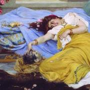 Fulvia in recline (Pavel Svedomsky (1849-1904))