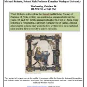 Michael Roberts Talk