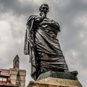 statue of ovid in constanta, romania, www.bdmundo.com, CC BY-SA 2.0 <https://creativecommons.org/licenses/by-sa/2.0>, via Wikimedia Commons