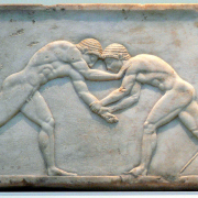 greek wrestlers, National Archaeological Museum of Athens, CC BY-SA 2.0 DE <https://creativecommons.org/licenses/by-sa/2.0/de/deed.en>, via Wikimedia Commons
