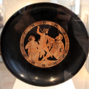 ancient bowl depicting aristophanes, Sailko, CC BY 3.0 <https://creativecommons.org/licenses/by/3.0>, via Wikimedia Commons