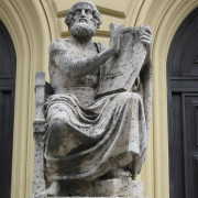 statue of homer, Rufus46, CC BY-SA 3.0 <https://creativecommons.org/licenses/by-sa/3.0>, via Wikimedia Commons