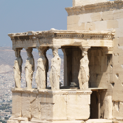 caryatids of erechtheum, Ken Russell Salvador, CC BY 2.0 <https://creativecommons.org/licenses/by/2.0>, via Wikimedia Commons