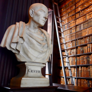 bust of cicero at a library, Sonse, CC BY 2.0 <https://creativecommons.org/licenses/by/2.0>, via Wikimedia Commons