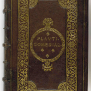 cover of old copy of plautus comedies, UnspecifiedPlautus, CC0, via Wikimedia Commons