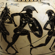 amphora with detail from iliad, Attributed to the Hattat Painter, CC0, via Wikimedia Commons
