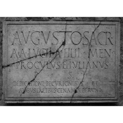 latin inscription, Oleg, CC BY 2.0 <https://creativecommons.org/licenses/by/2.0>, via Wikimedia Commons