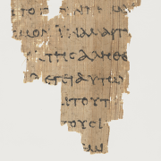 scrap of greek papyrus, RylandsImaging, CC BY-SA 4.0 <https://creativecommons.org/licenses/by-sa/4.0>, via Wikimedia Commons