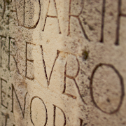 a section of a latin inscription, Tfioreze, CC BY-SA 3.0 <https://creativecommons.org/licenses/by-sa/3.0>, via Wikimedia Commons