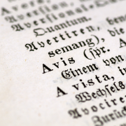 a section of a latin dictionary in german, Arcaion, CC0, via Wikimedia Commons