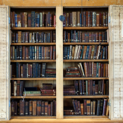 old library books, Daderot, CC0, via Wikimedia Commons