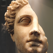 broken bust of a greek goddess, See page for author, CC BY-SA 4.0 <https://creativecommons.org/licenses/by-sa/4.0>, via Wikimedia Commons