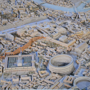 model of imperial rome, Carole Raddato from FRANKFURT, Germany, CC BY-SA 2.0 <https://creativecommons.org/licenses/by-sa/2.0>, via Wikimedia Commons